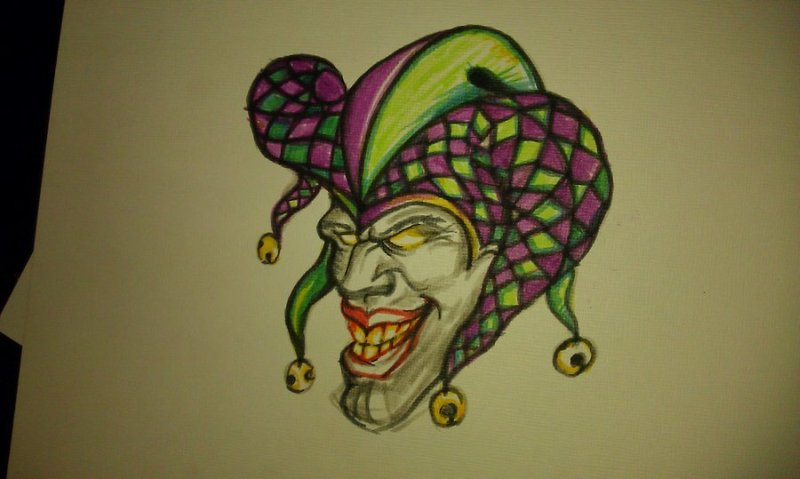 Superb joker tattoo design