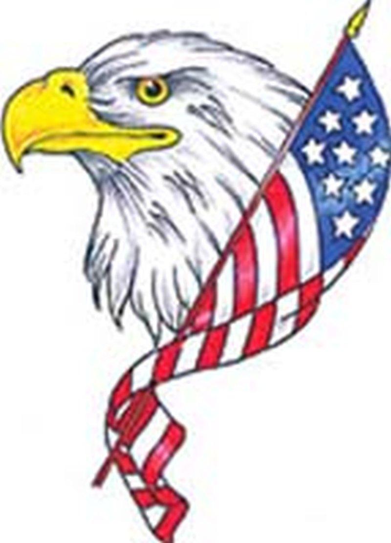 Sweet american eagle tattoo