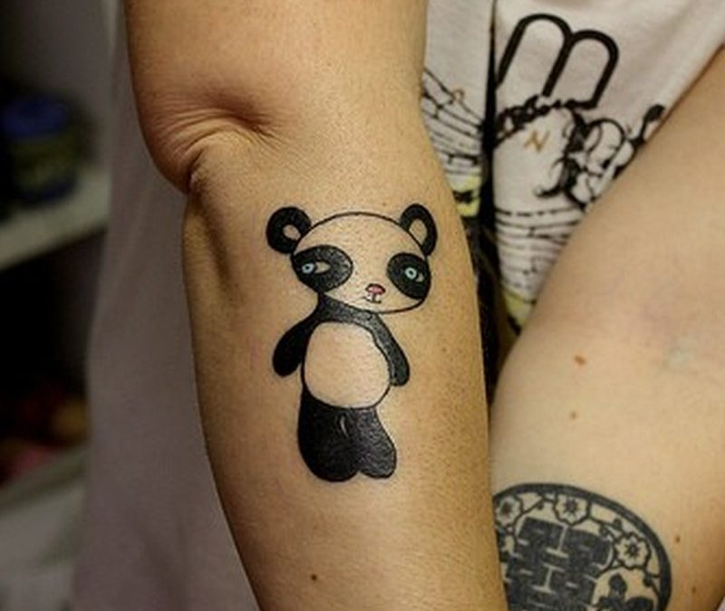 Sweet little chinese panda tattoo