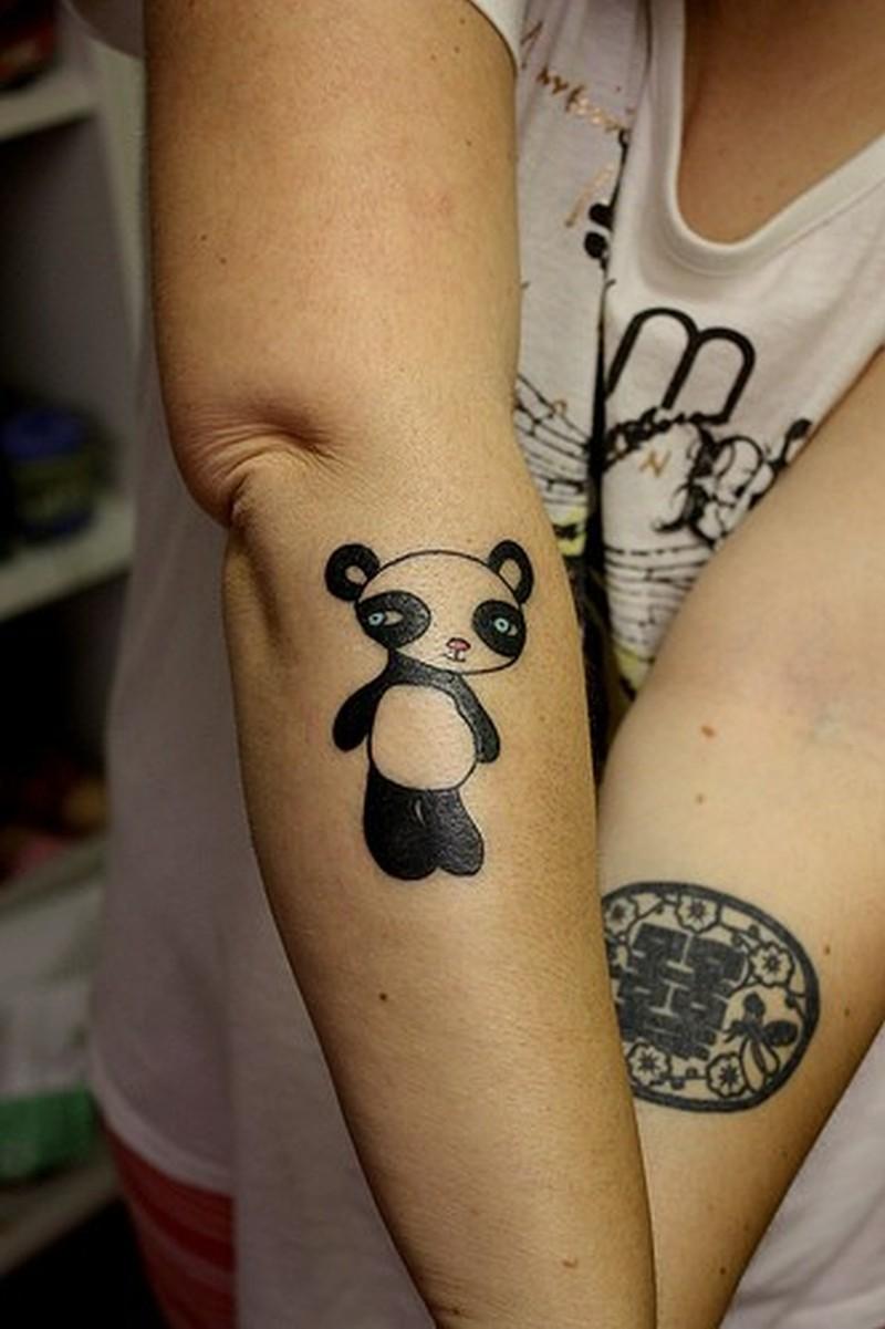 Sweet little chinese panda tattoo