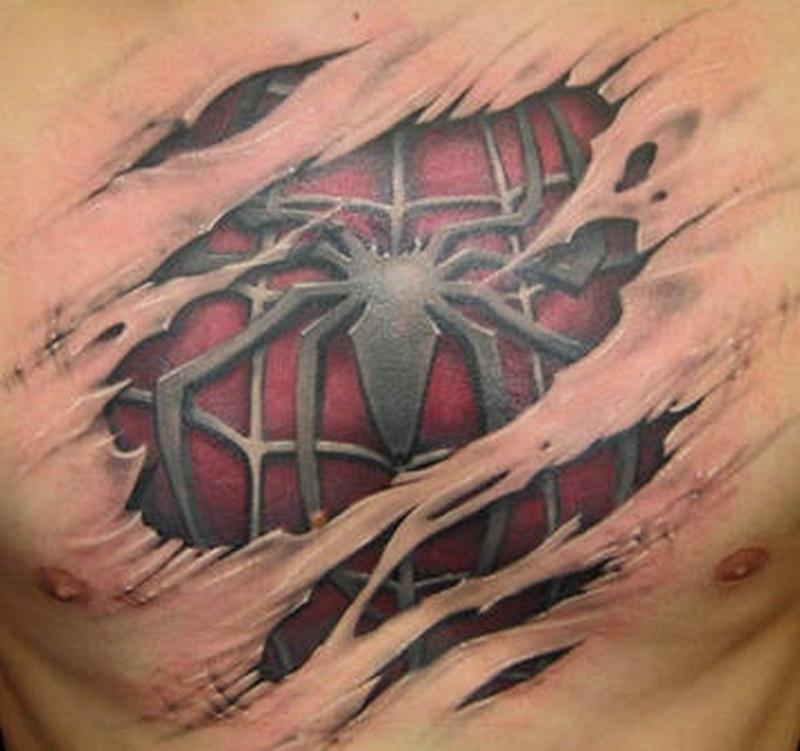 Tattoo 3dspidermantattoo
