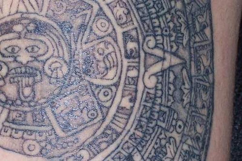 Tattoo azteccalendartattoo