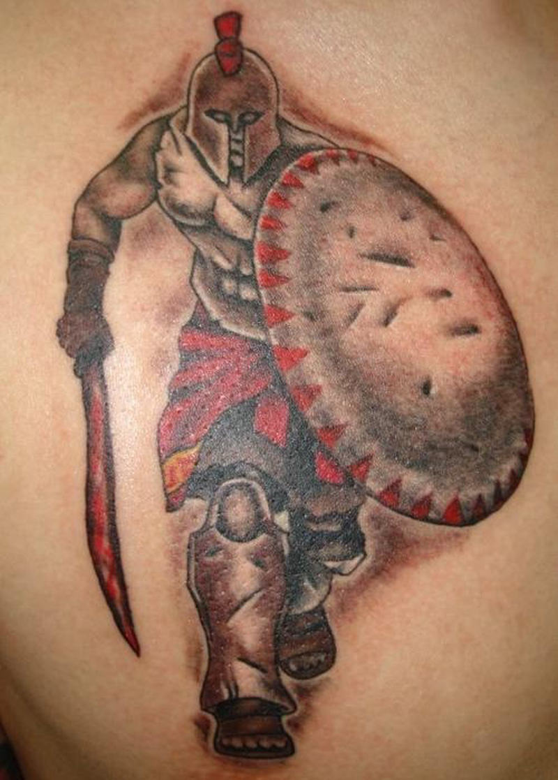 Tattoo design of aztec warrior
