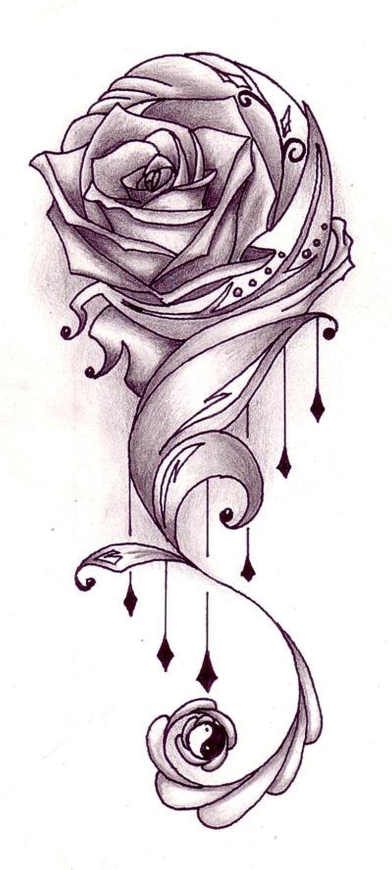 Tattoo design of flower