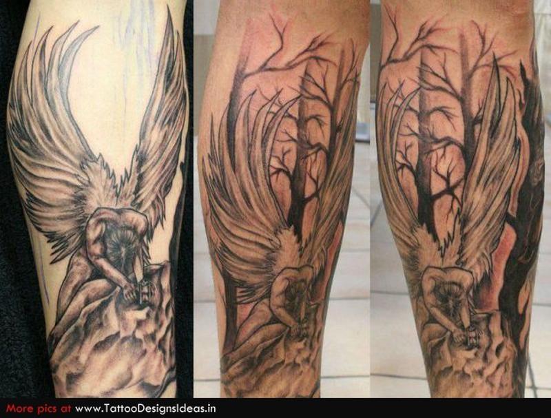 Татуировки ангела на руке 188