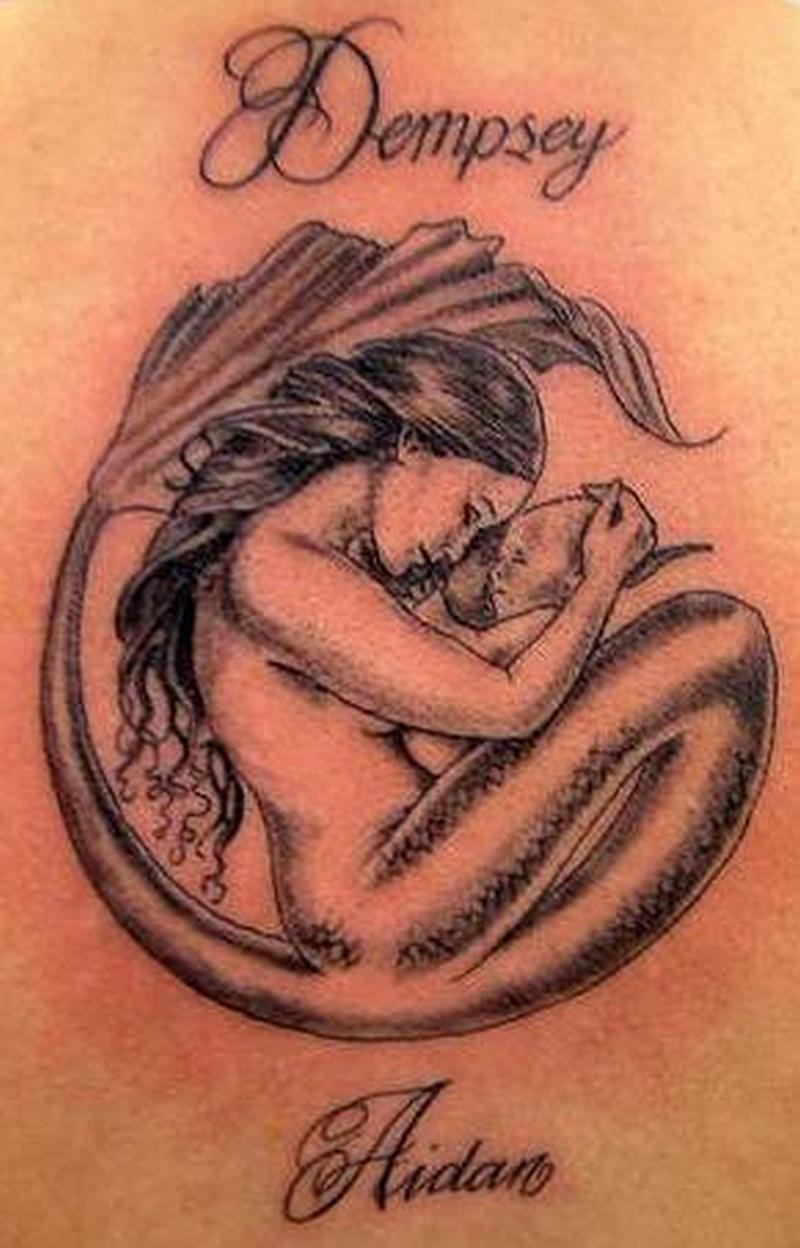 Tattoo mermaidandbabytattoo 0