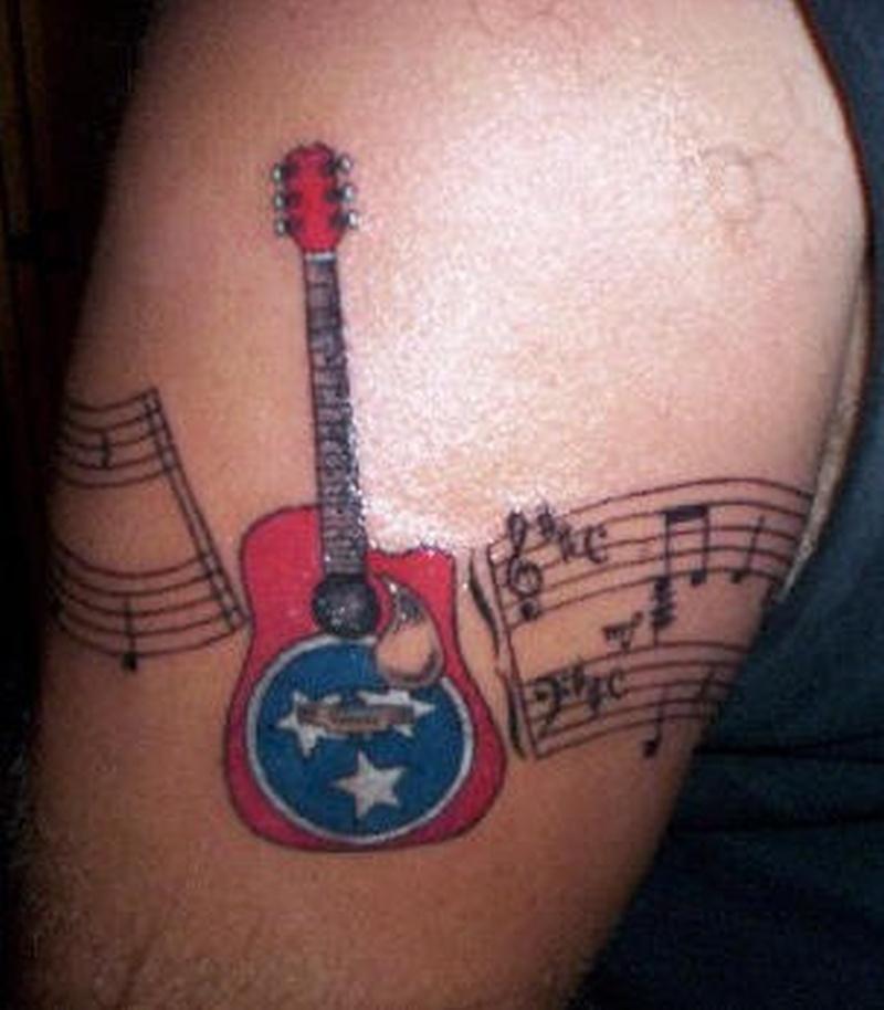 Tattoo musicnotearmbandtattoo