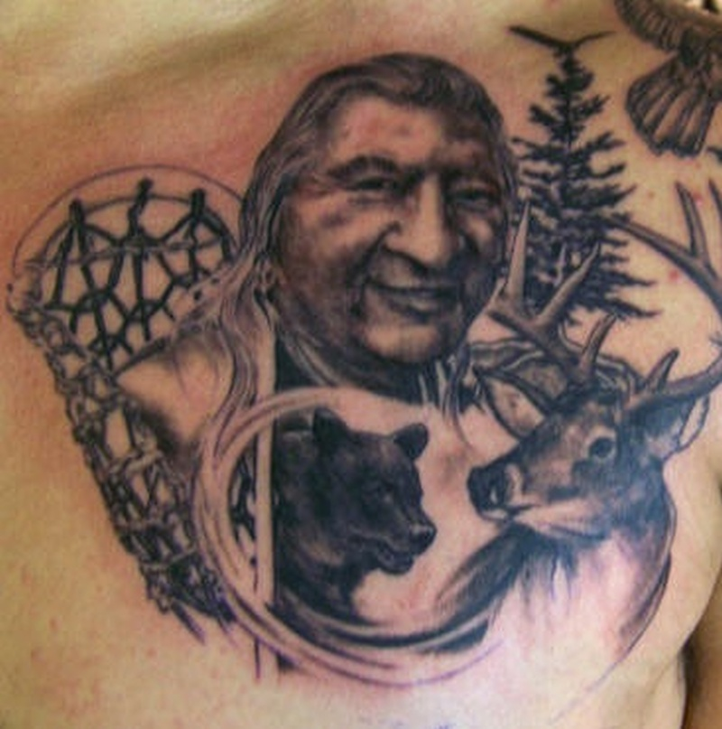 Tattoo nativeamericanbeartattoo