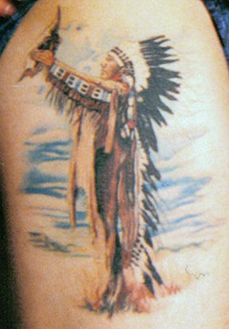 Tattoo nativeamericanportraittattoo