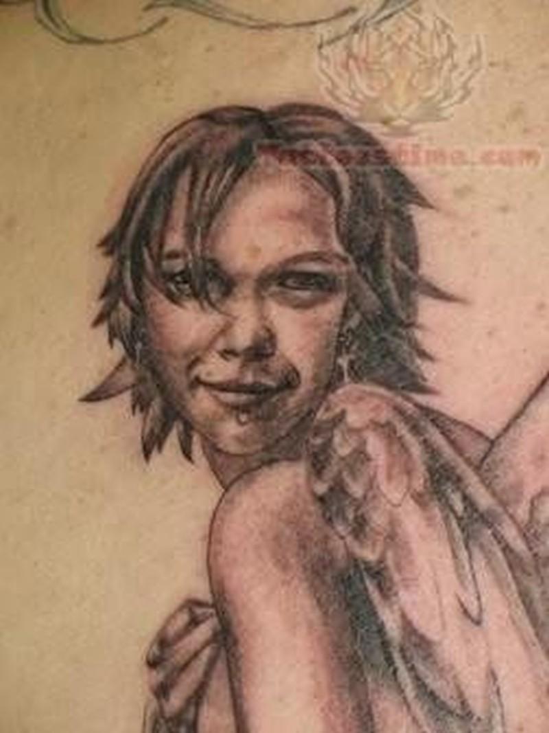 Tattoo of angel wings