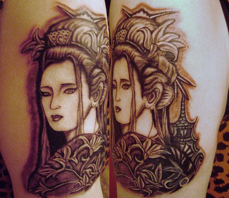 Tattoo of geisha
