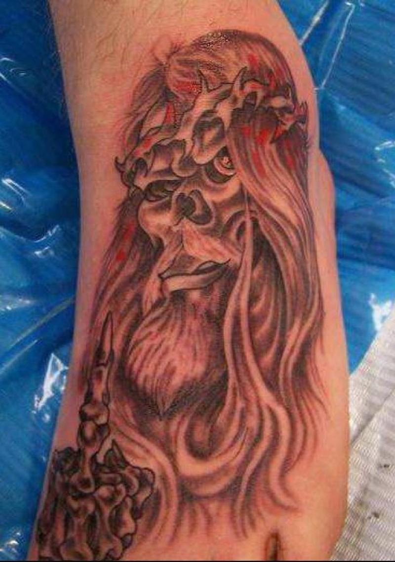 Tattoo of jesus