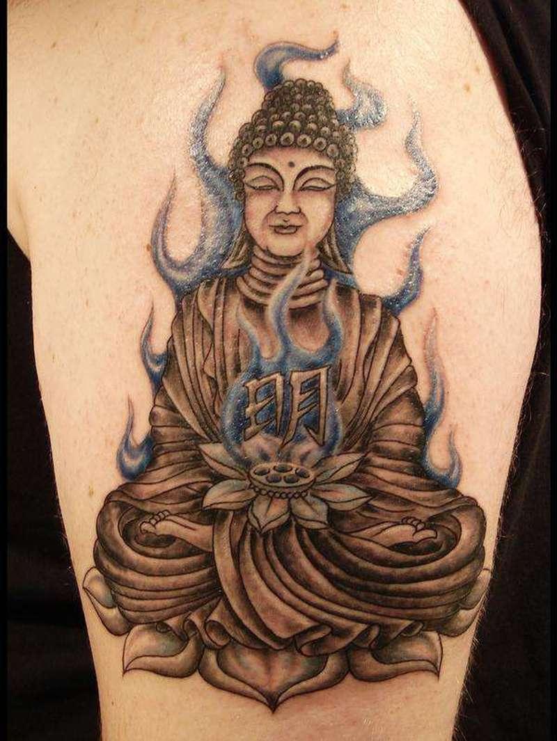 Tattoo of religious buddha