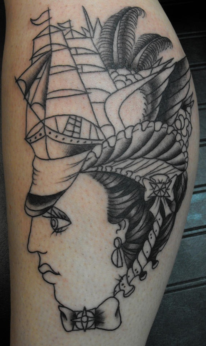 Tattoo pirateshipandwomantattoo
