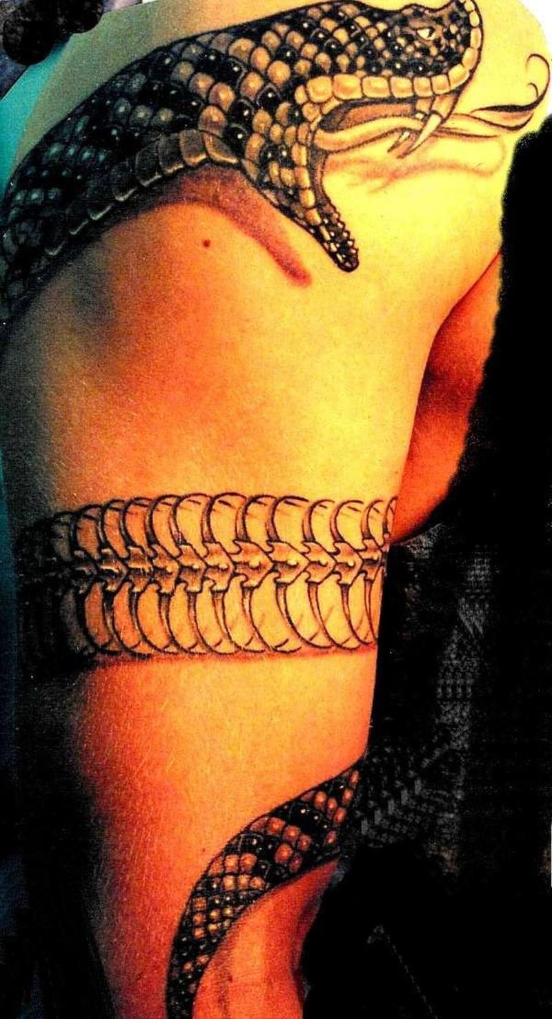Татуировки змея на руке фото
