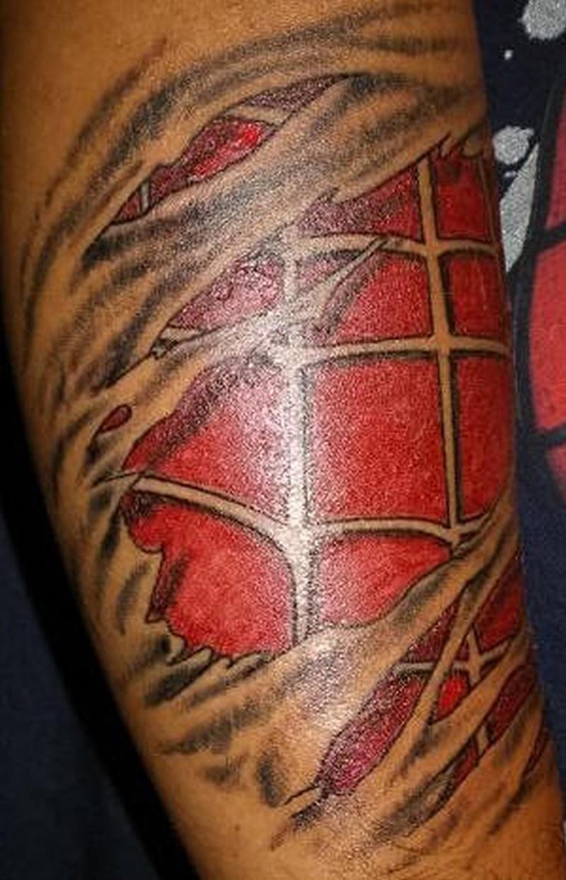 Tattoo spidermanskinriptattoo