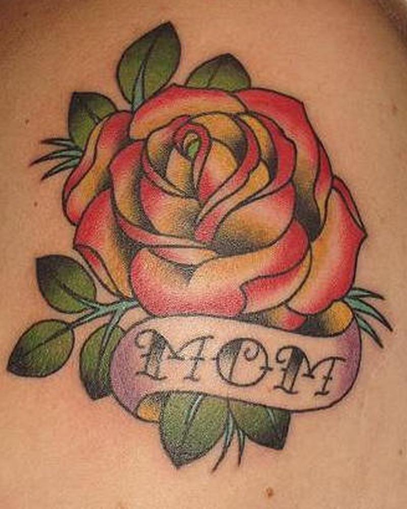 Tattoo traditionalstylerosetattoo 0
