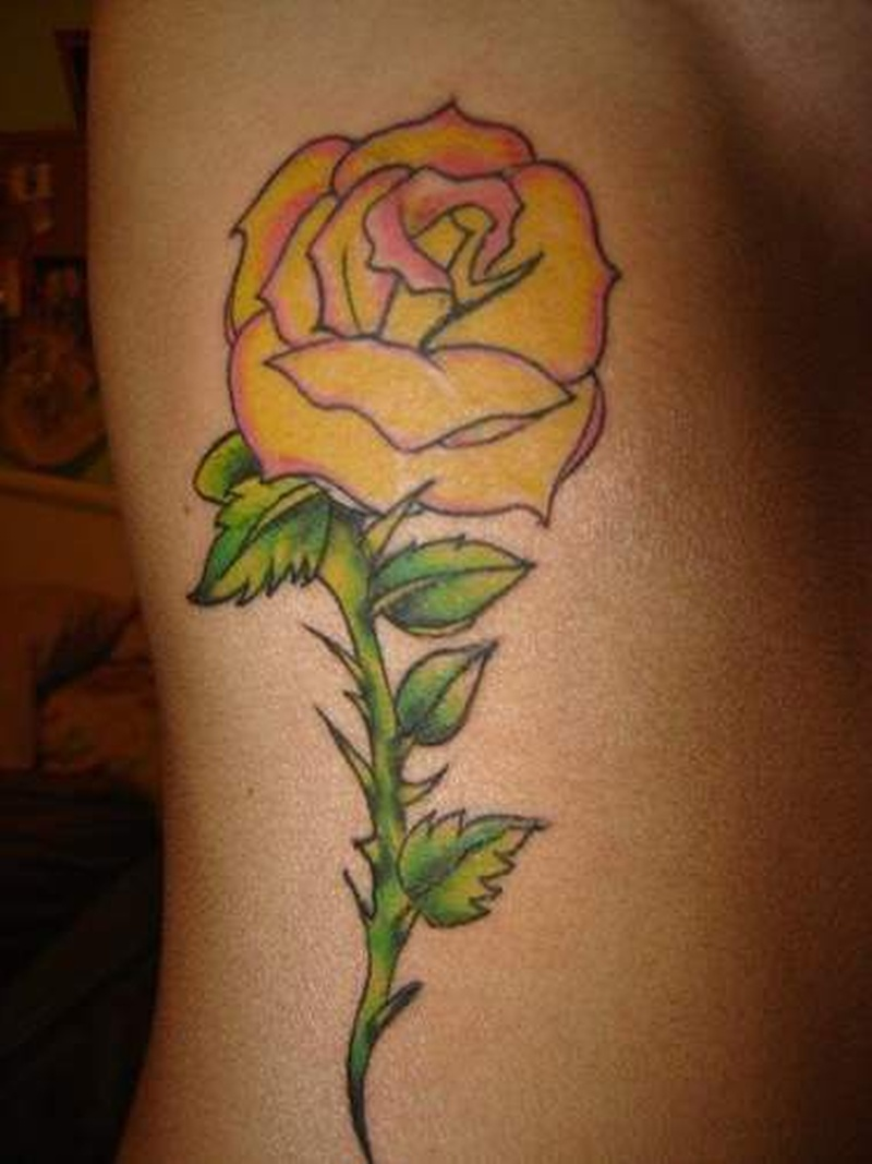Tattoo yellowrosetattoo