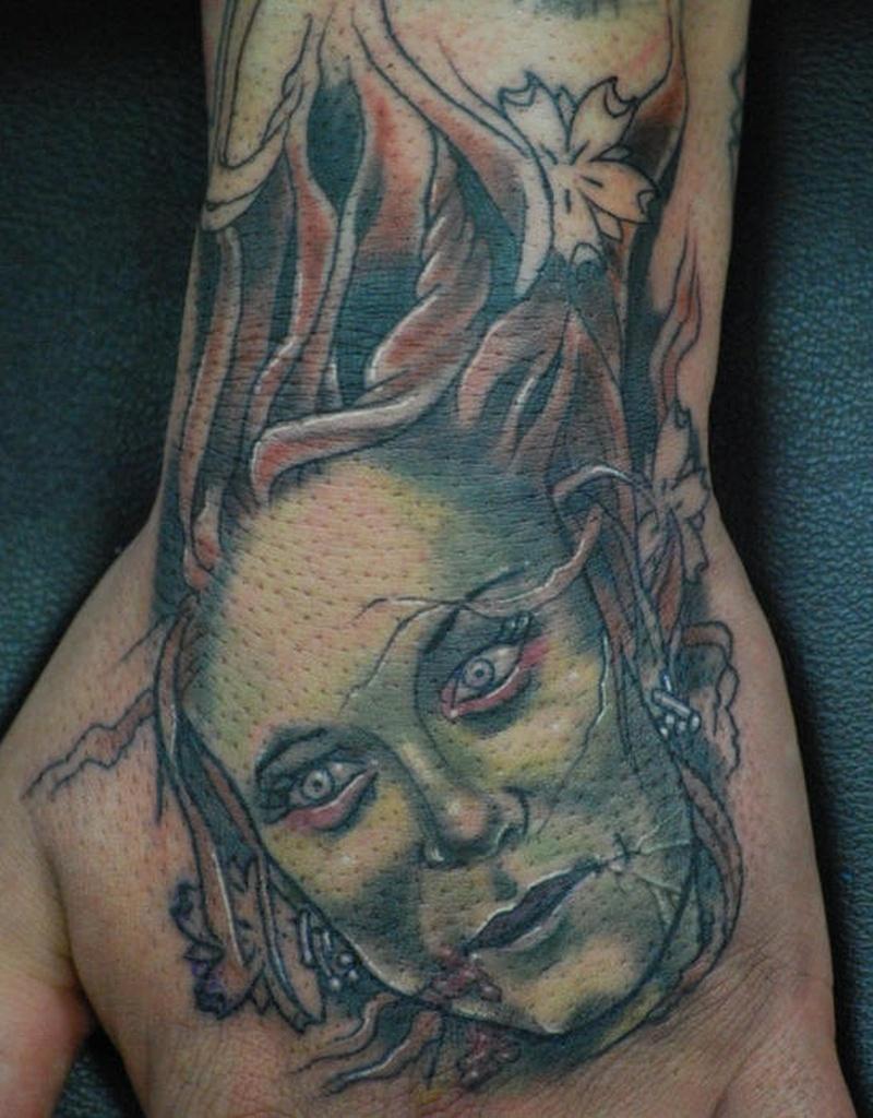 Tattoo zombiegirlheadtattoo tattoos book for Tattoo girl book