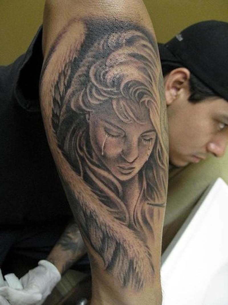 Tattoos of girl angel