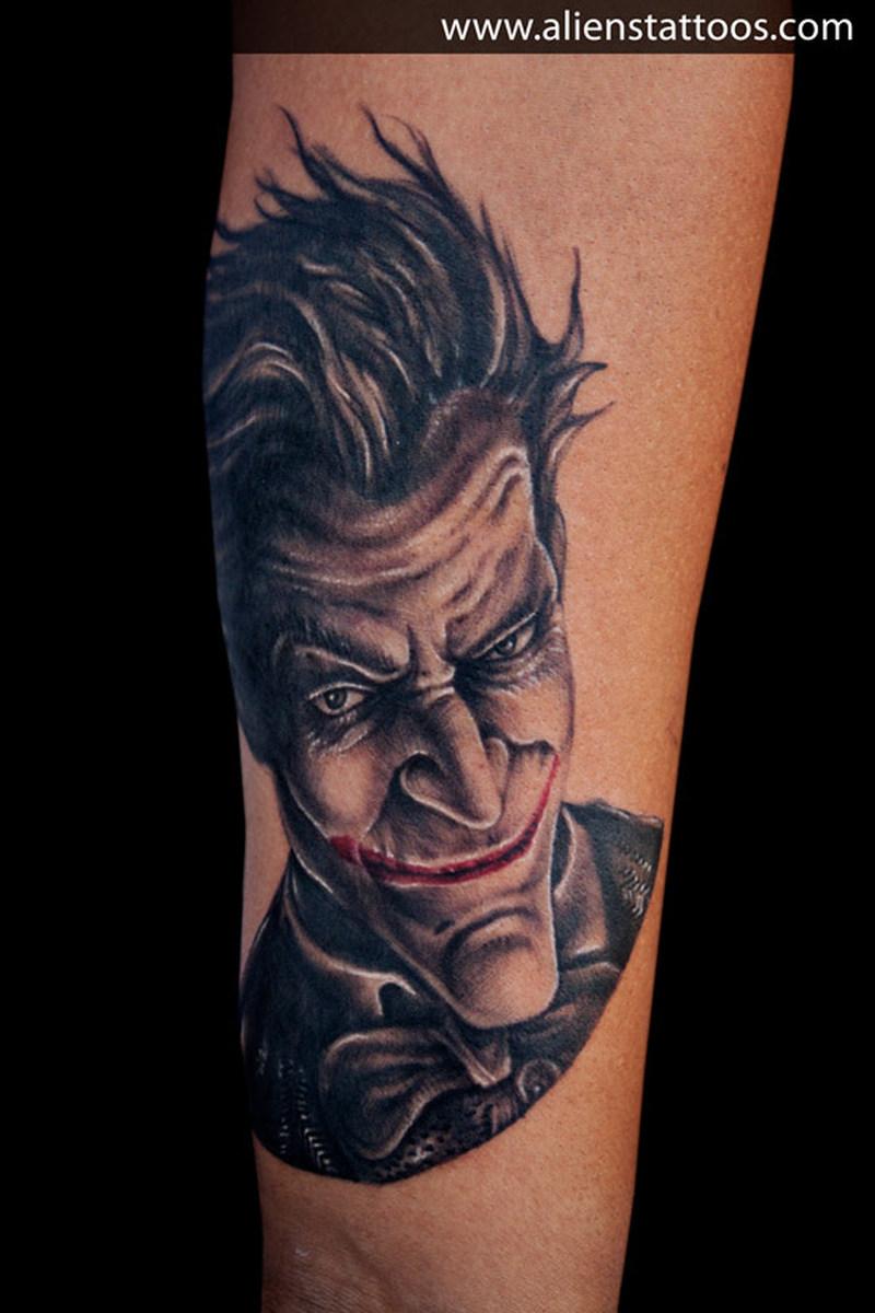 Terrific batman joker tattoo