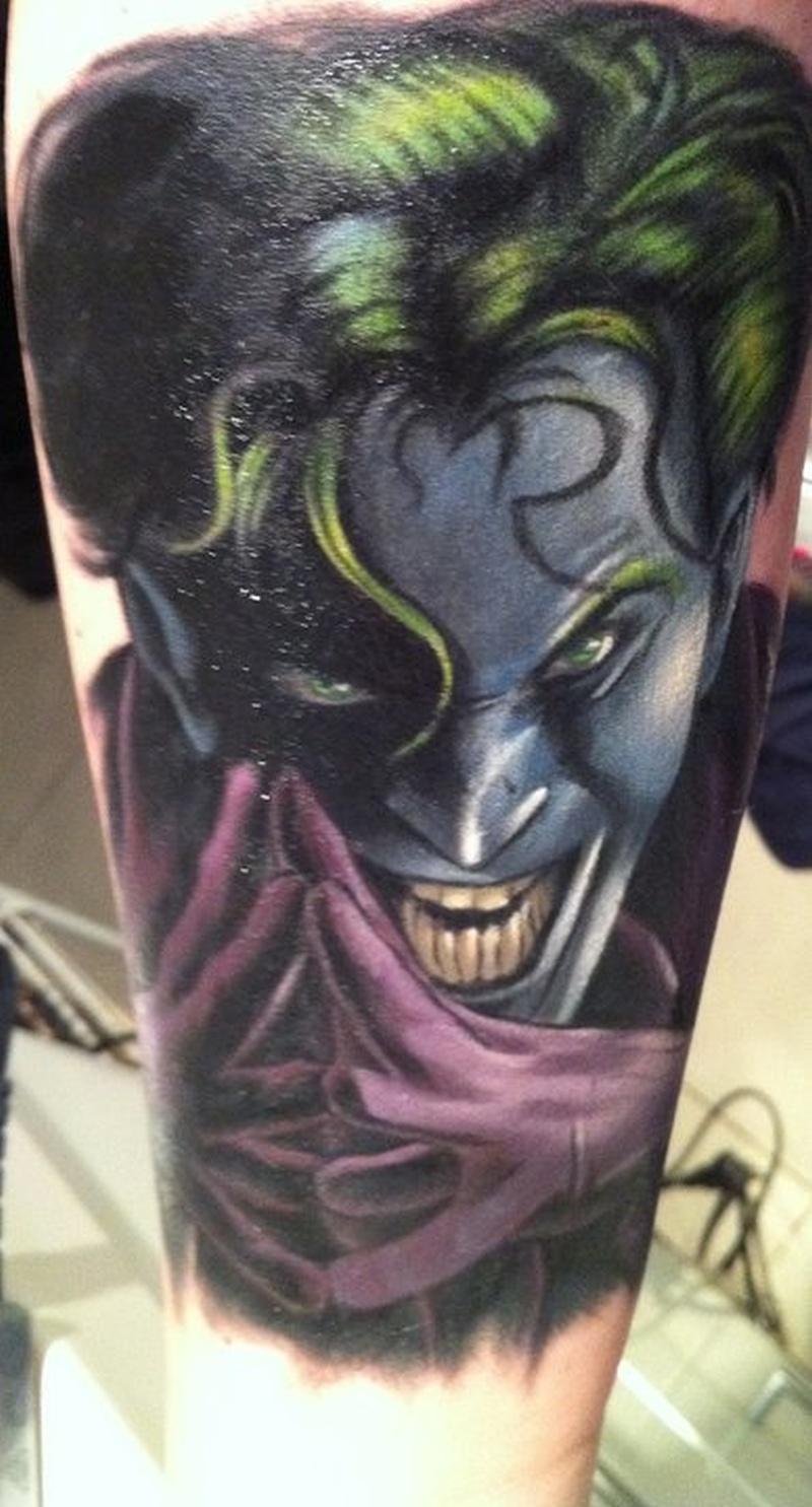 Terrific joker tattoo picture