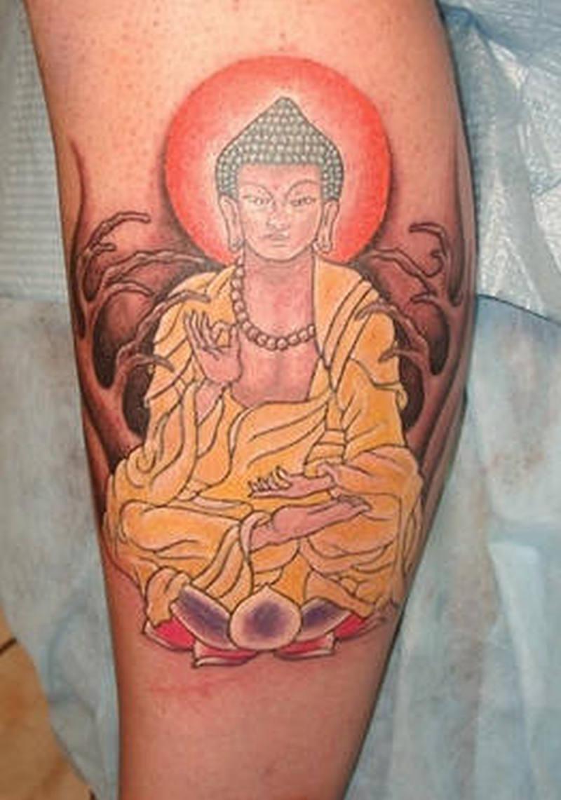 Terrific religious buddha tattoo design