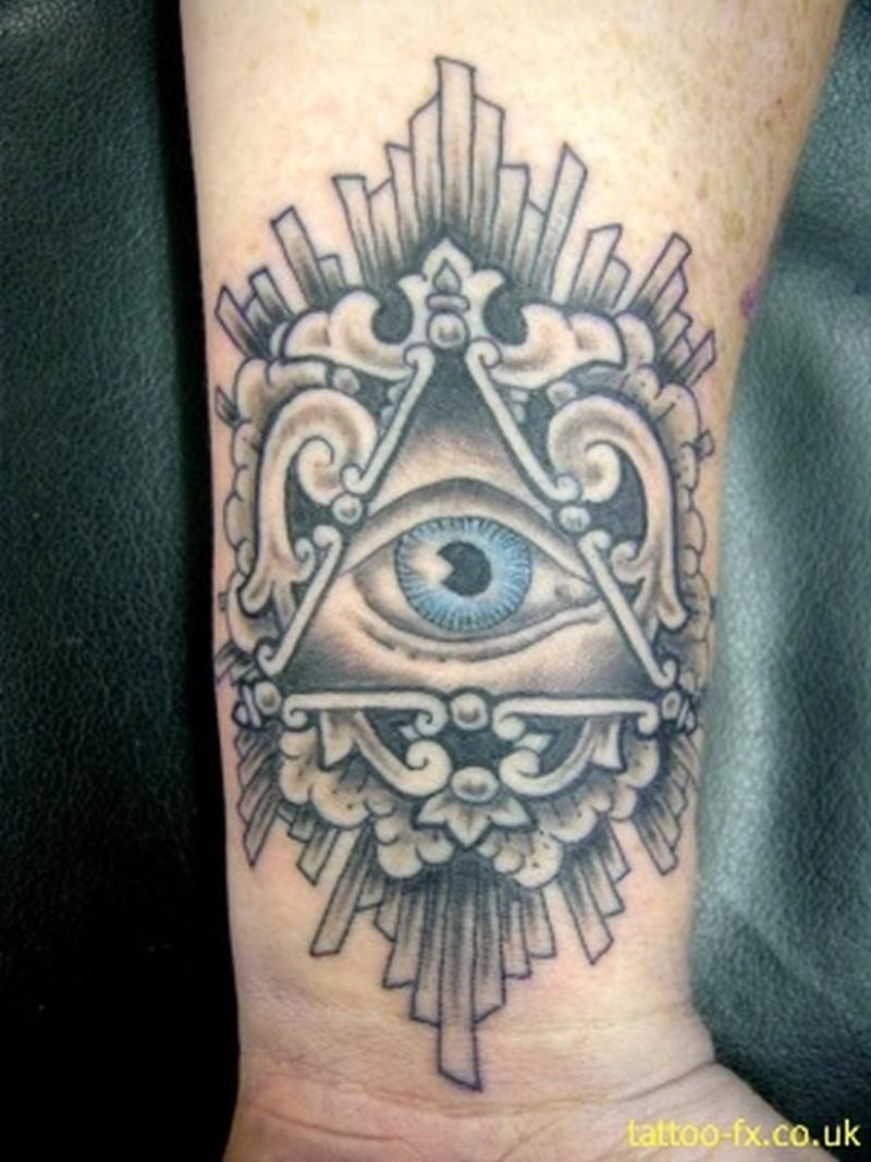 the all seeing eye tattoo on wrist tattoos book tattoos designs. Black Bedroom Furniture Sets. Home Design Ideas