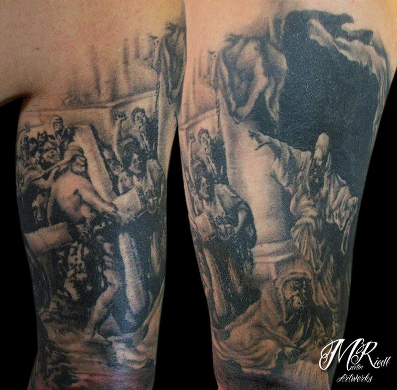 The crucifixion of jesus tattoo design