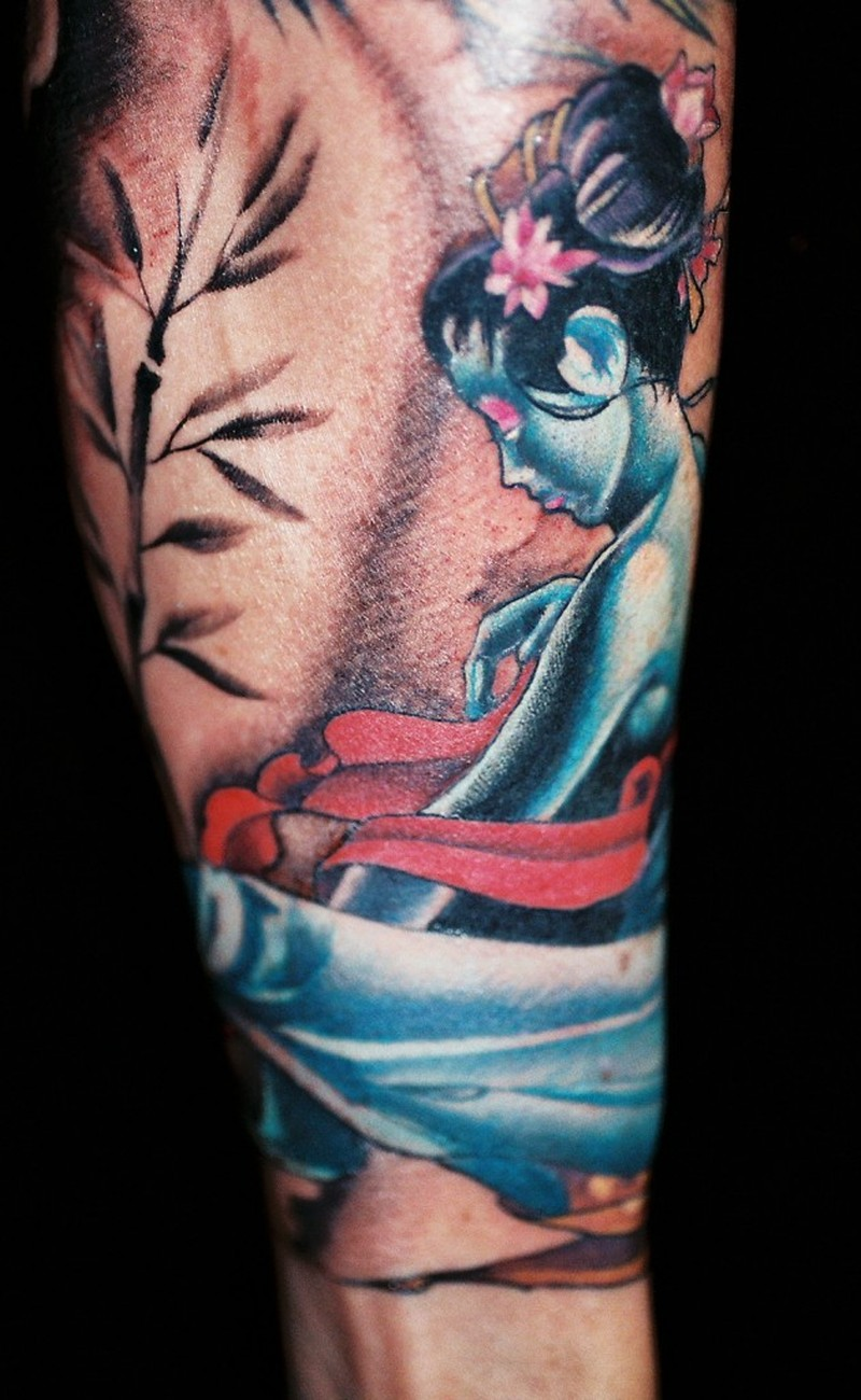 The geisha tattoo design