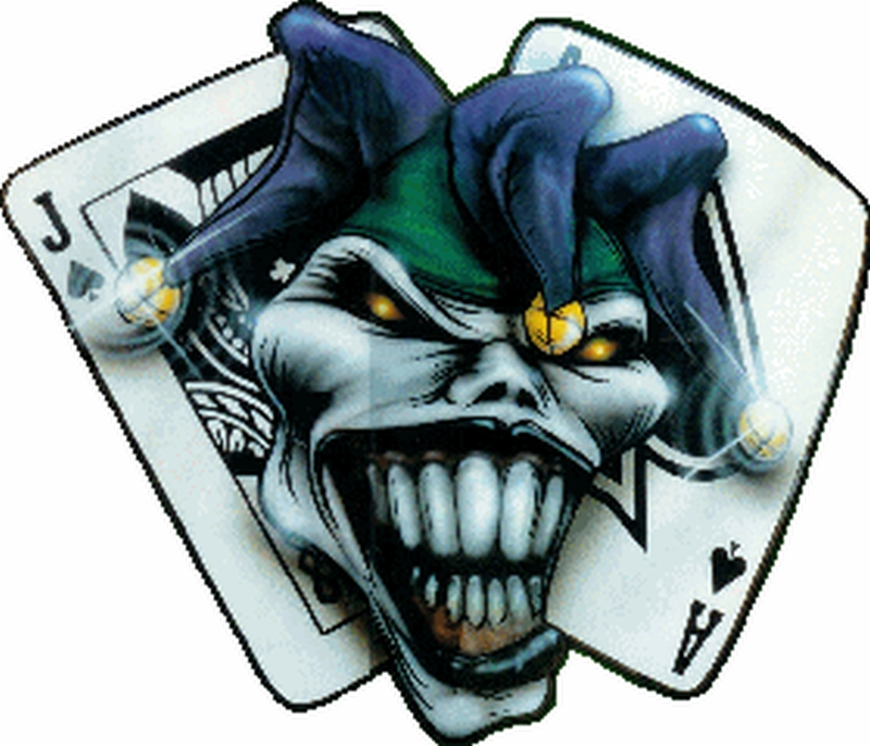 The joker clown n cards tattoo design tattoos book 65 for Home by johker design
