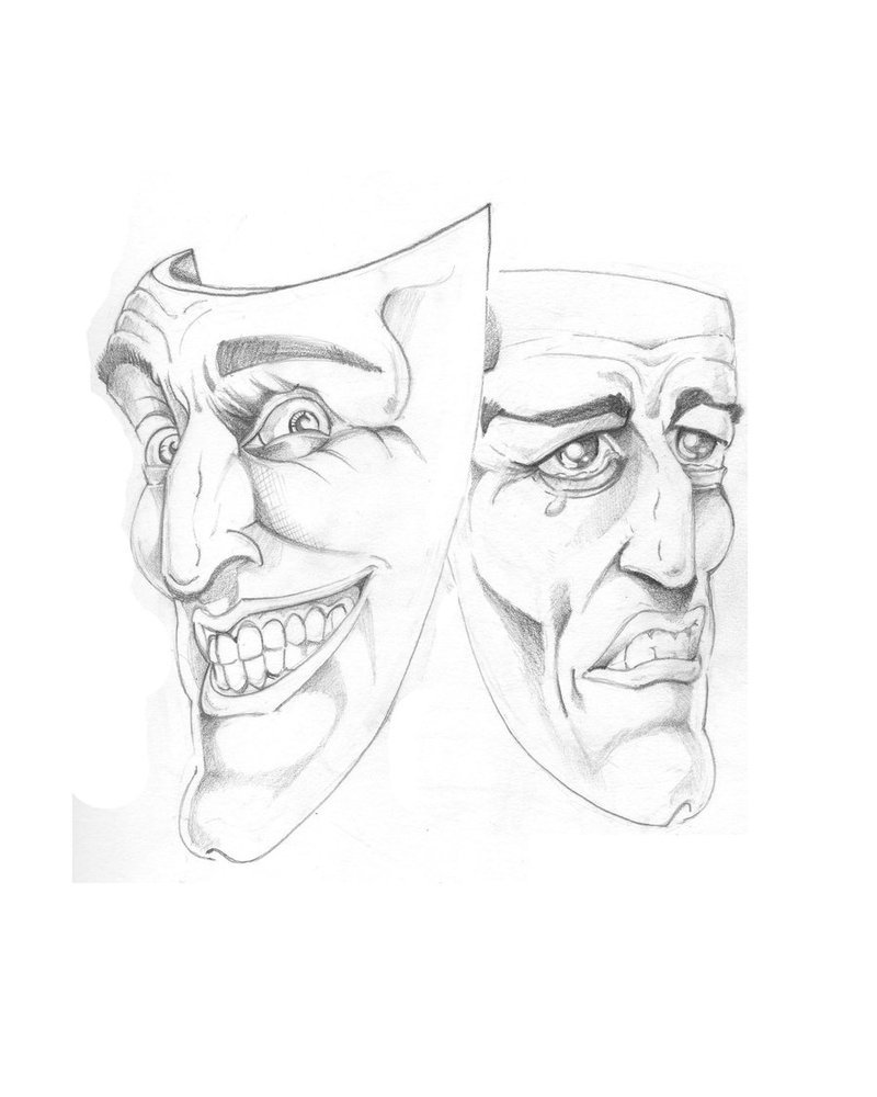 The joker masks tattoo design