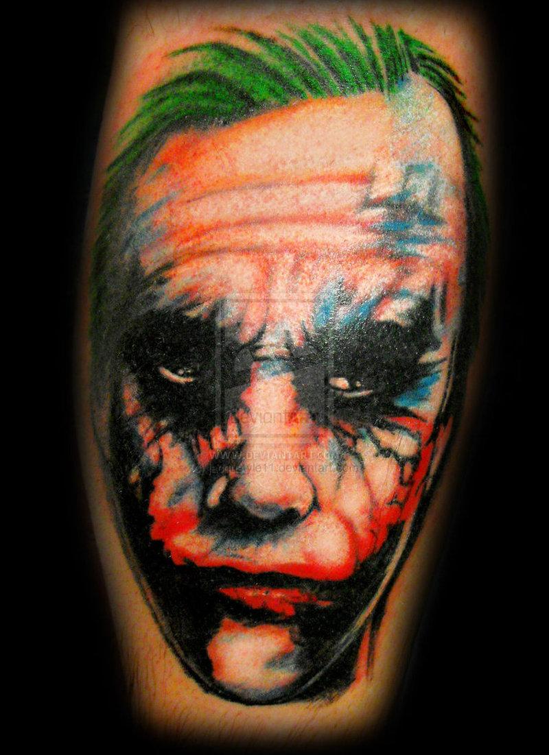 The joker portrait tattoo design