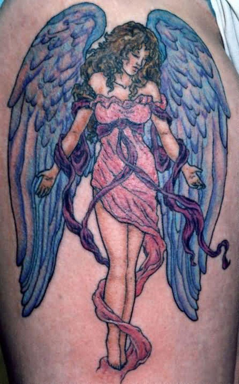 The popular angel tattoo design