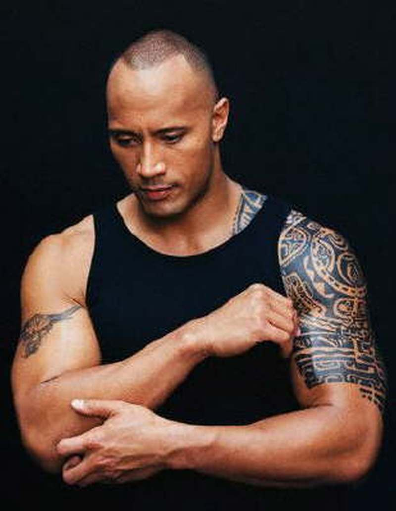 The rock s samoan art and brahma bull tattoo