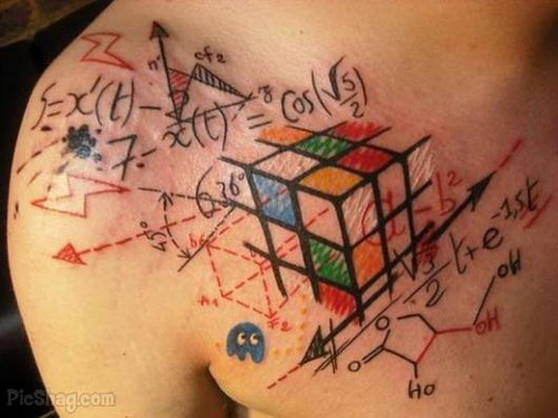The ultimate geek tattoo on chest