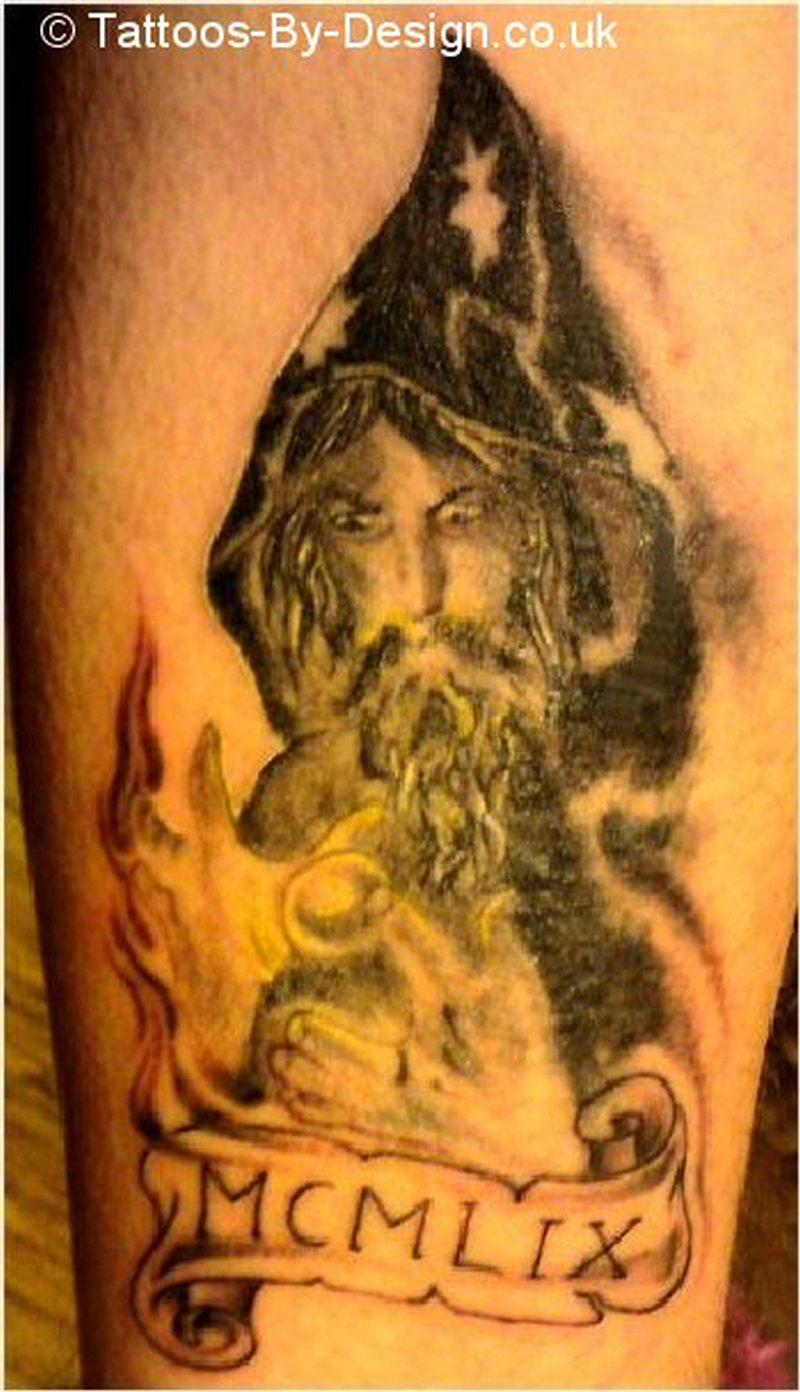 The wizard fantasy tattoo design