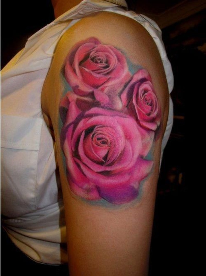 Three nice roses tattoo on shoulder tattoos book 65 for 3 roses tattoo