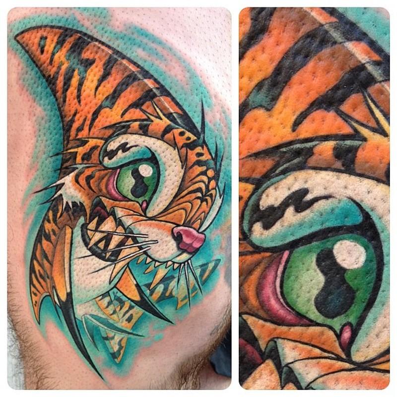 5b35d10c324e3 Tiger shark cartoon tattoo - Tattoos Book - 65.000 Tattoos Designs
