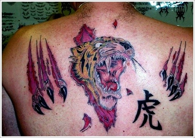 Scratch marks on back