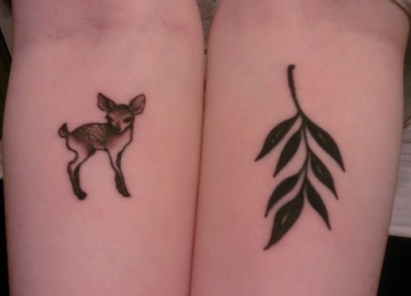 Tiny deer tattoo design