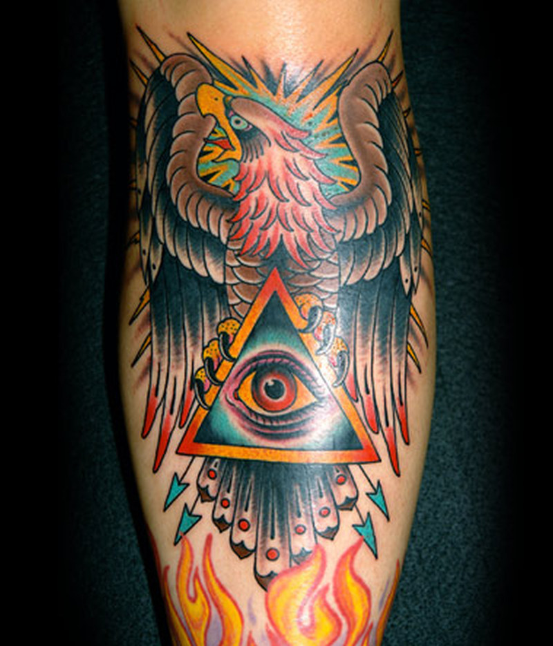 traditional eagle n eye tattoo design tattoos book tattoos designs. Black Bedroom Furniture Sets. Home Design Ideas