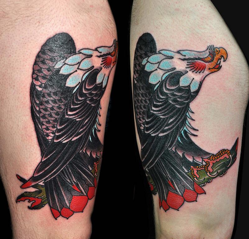 Traditional eagle tattoo 2