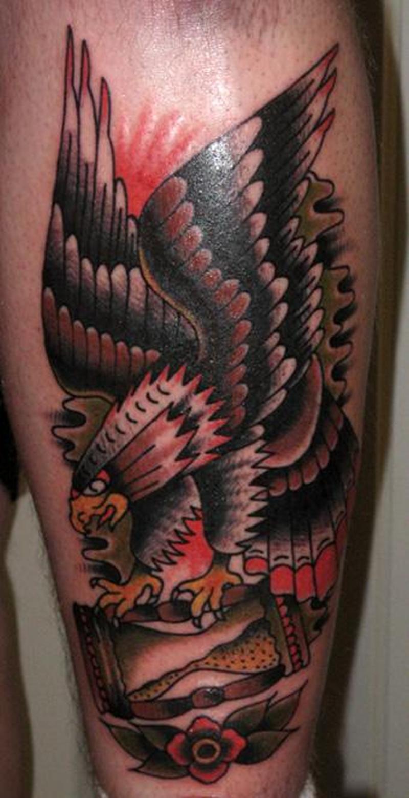 Traditional eagle tattoo design 2