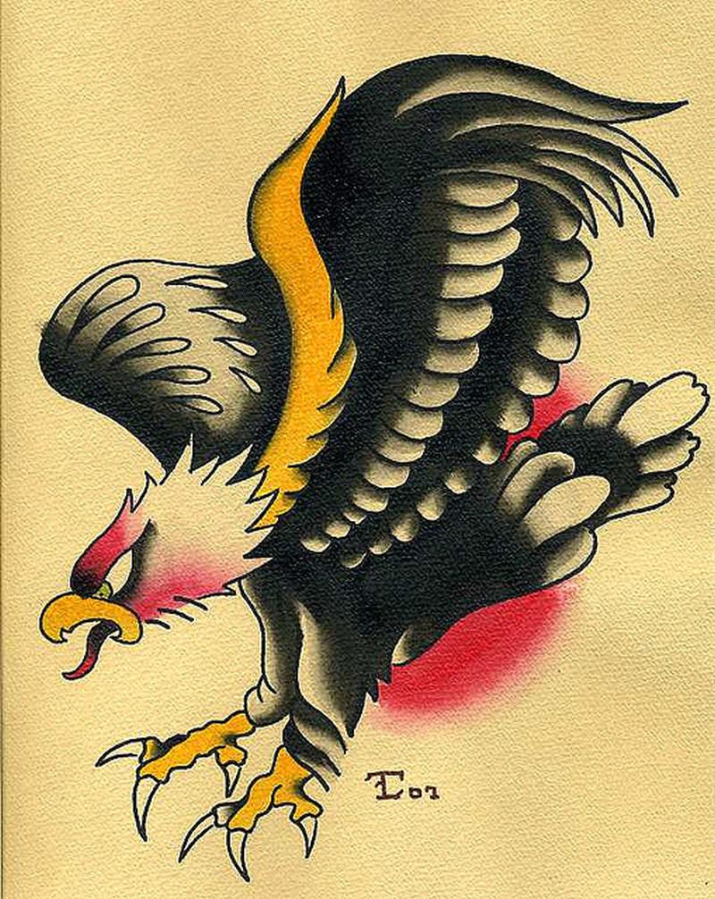 Traditional eagle tattoo sample