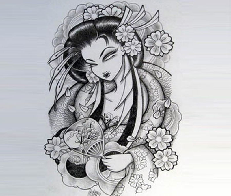 Traditional Geisha Tattoo Art Tattoos Book 65000 Tattoos Designs
