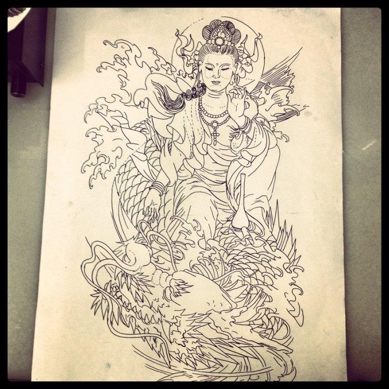 Traditional japanese tattoo design 3