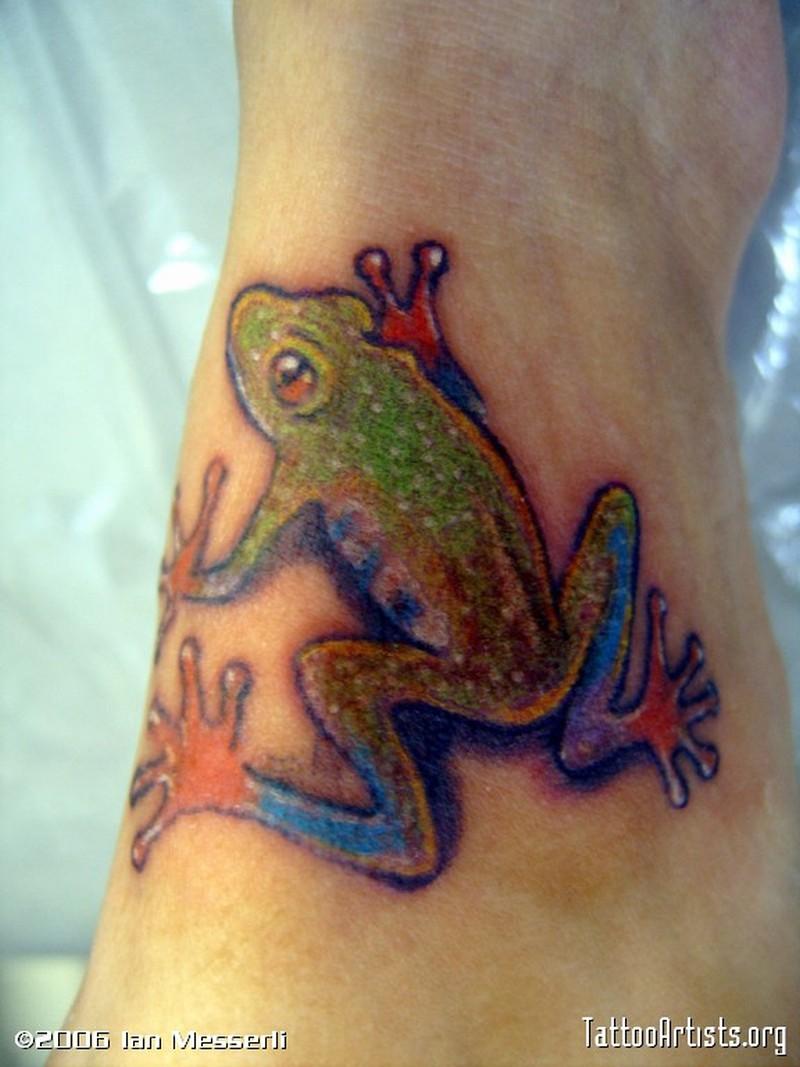 Tree frog tattoo design 2