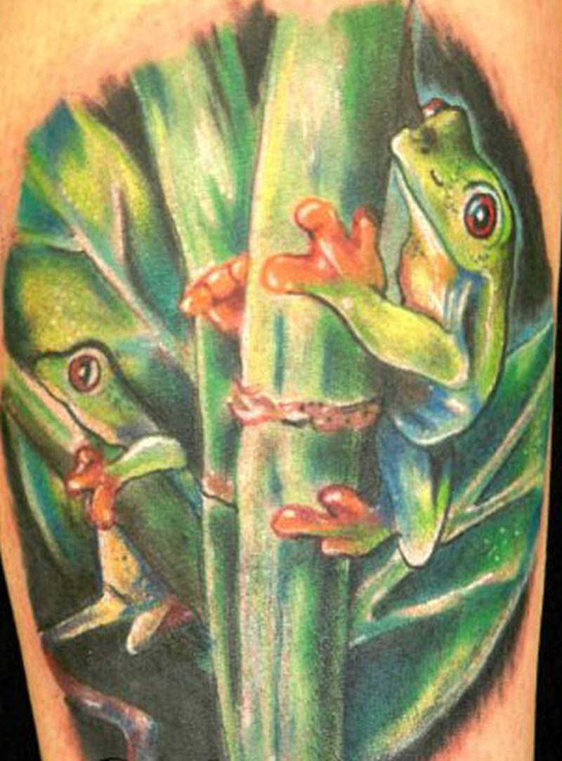 Tree frog tattoo design 3