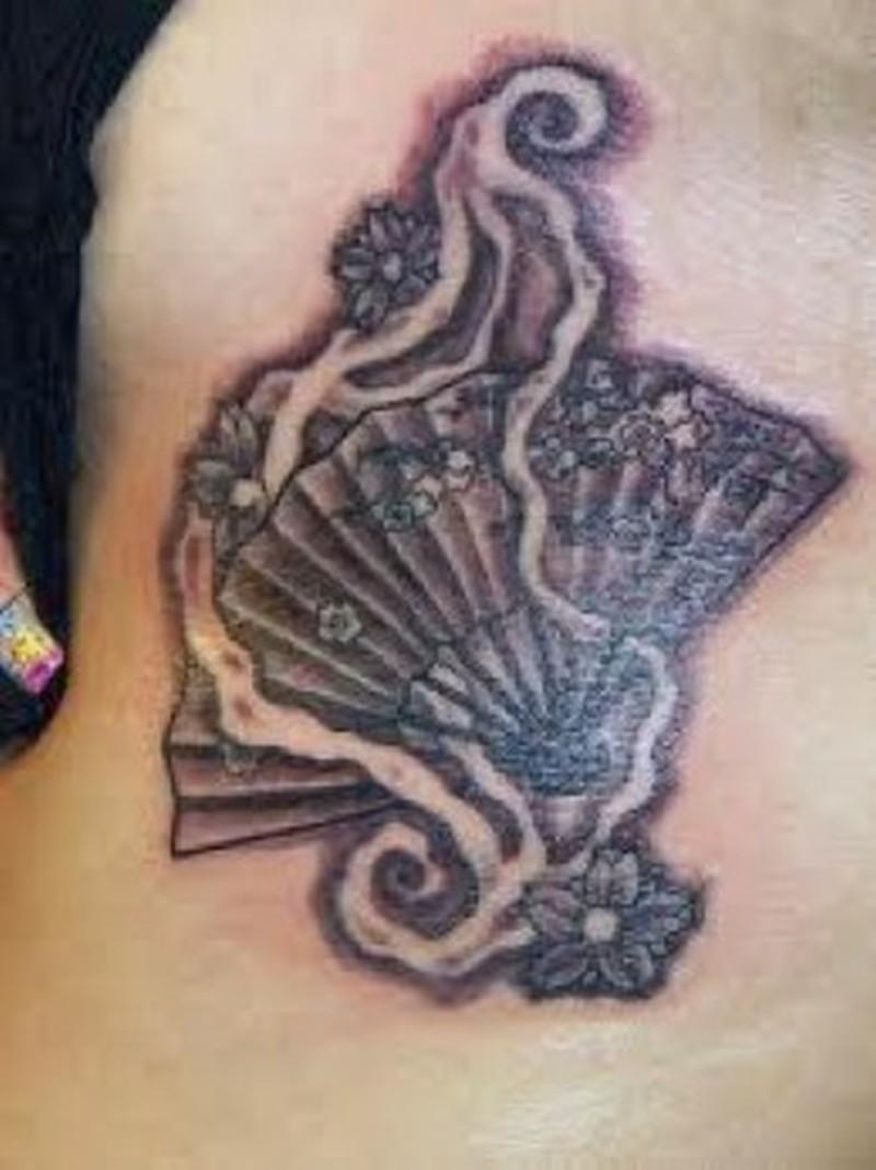Tremendous asian fan tattoo